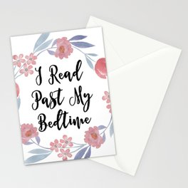 I Read Past My Bedtime Stationery Cards