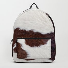 Smooth cow fur in brown and white colors Backpack
