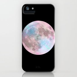 Iridescent Dark Moon iPhone Case