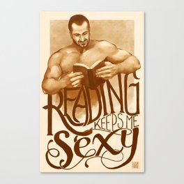 Sexy Reading Canvas Print