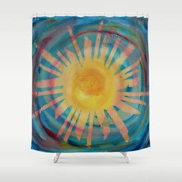 Jah Sun is on the Rise Again Shower Curtain