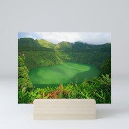Lake in Azores Mini Art Print