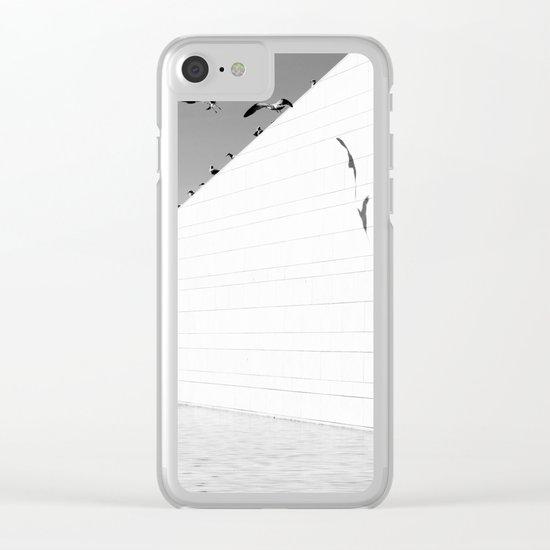 Shadows birds Clear iPhone Case