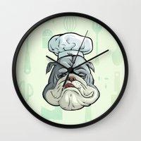 chef Wall Clocks featuring Chef by Keyspice
