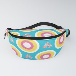 Abstract dotty target circles. Fanny Pack