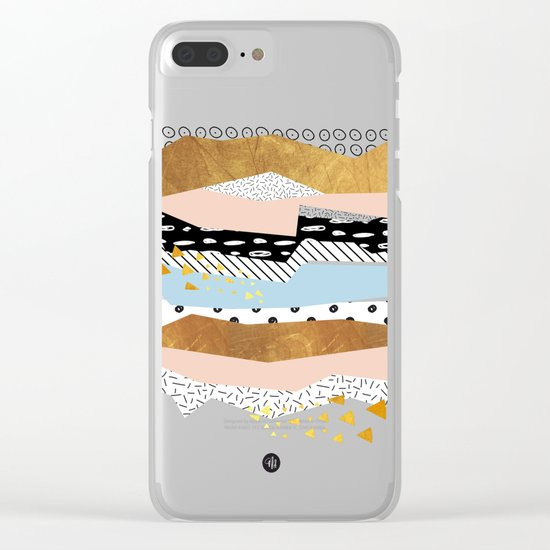 Geometric shapes 01 Clear iPhone Case