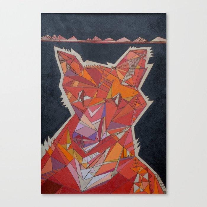 Pete the Fox Canvas Print