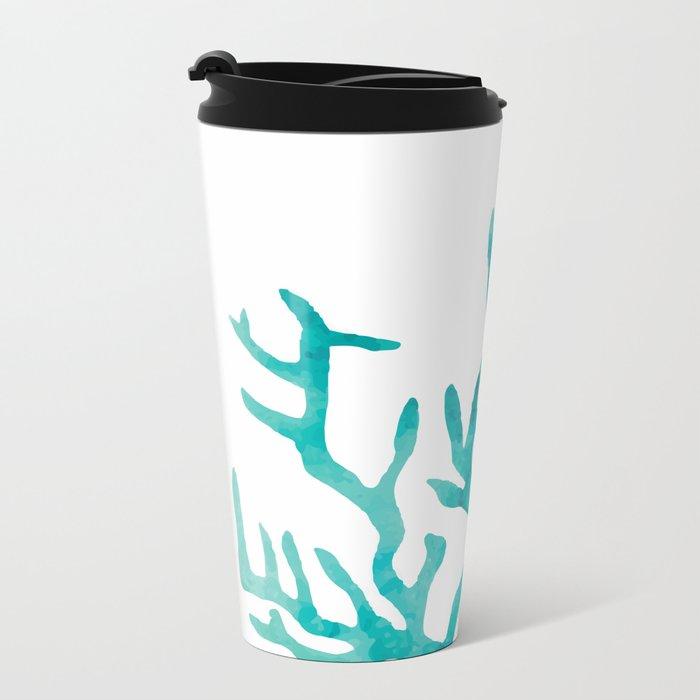 coral Metal Travel Mug