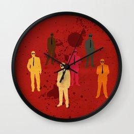 Six Angry Dogs Wall Clock