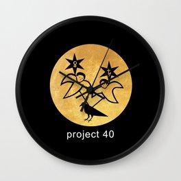 project 40 black Wall Clock