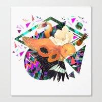 kris tate Canvas Prints featuring PAPAYA by Carboardcities and Kris tate by cardboardcities