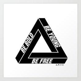 Penrose Triangle Art Print