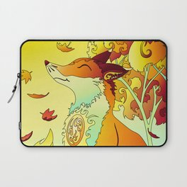 Flaming Fox in autumn colours Laptop Sleeve