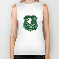 gondor Biker Tanks featuring The Prancing Pony Sigil by Nxolab