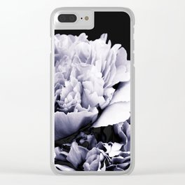 Peony Flower Bouquet Black and White #decor #society6 #buyart Clear iPhone Case