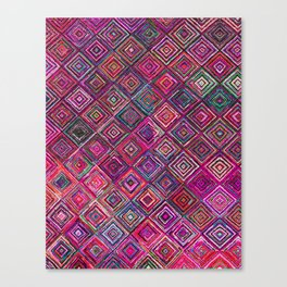 N46 - Arteresting Colored Traditional Boho Moroccan Artwork. Canvas Print