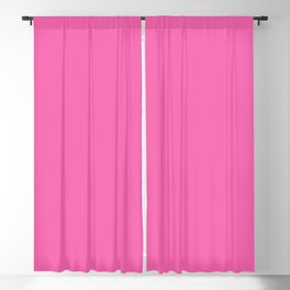 From The Crayon Box – Wild Strawberry - Bright Pink Solid Color Blackout Curtain