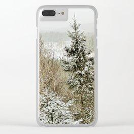 Winter Wilderness Clear iPhone Case