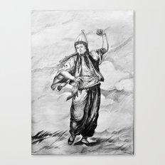 the old term female dancer Canvas Print