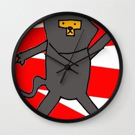 Ninja Kitty Wall Clock