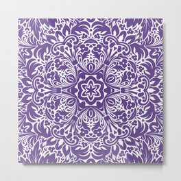 Ultra Violet home decor mandala Metal Print