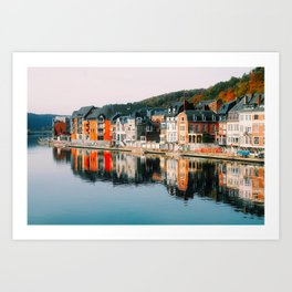 Riverfront Row Houses (Dinant, Belgium) Art Print