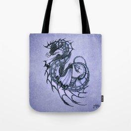 """Tsunami"" by Amber Marine ~ Sea Dragon (Amethyst Version) ~ Graphite Illustration, (Copyright 2005) Tote Bag"