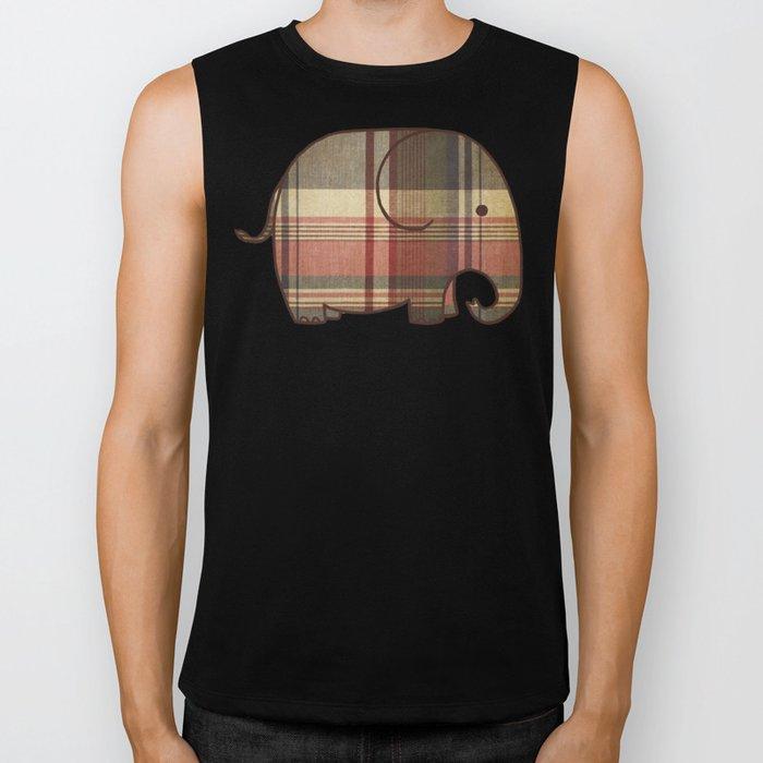 Plaid Elephant  Biker Tank