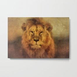 Lion Strong And Brave Metal Print