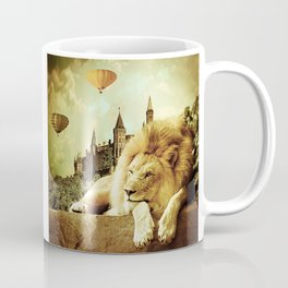 Lion Visits the Castle Coffee Mug