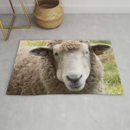 Sweet Sheep Face Rug
