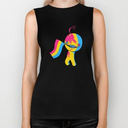 Pansexual Pride Mad!Sup Guy Biker Tank