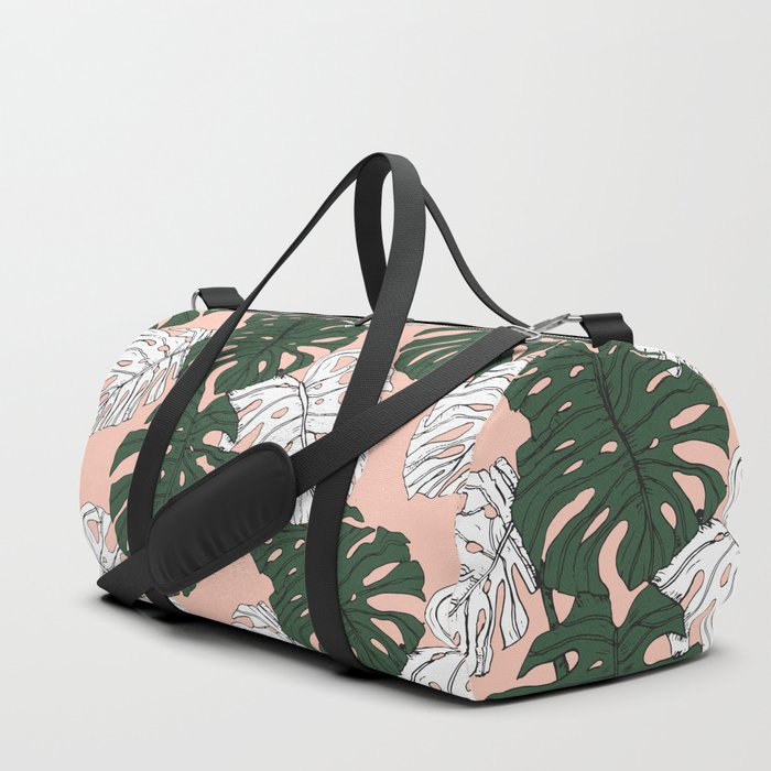 Hand drawing monstera pastel color Duffle Bag