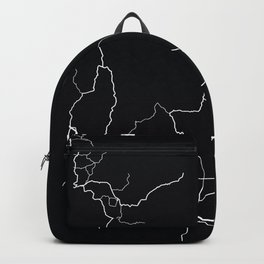 Idaho State Road Map Backpack