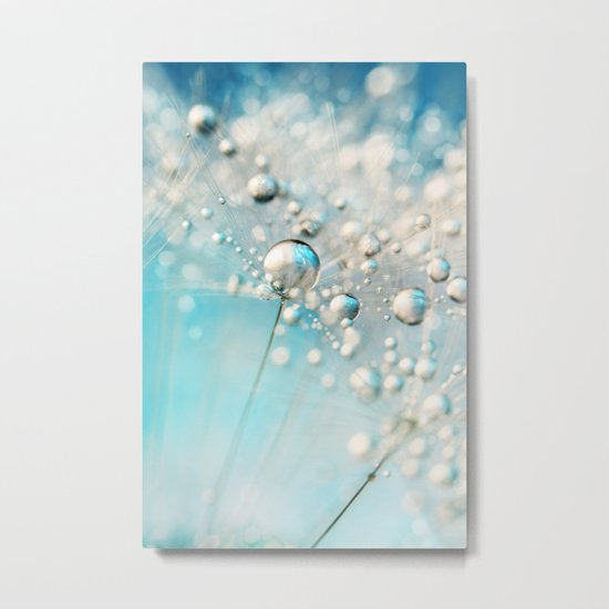 Sparkle in Blue Metal Print