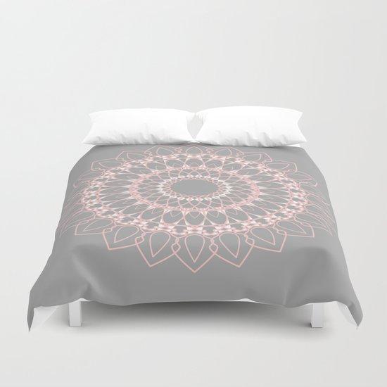 Mandala Rose  Duvet Cover