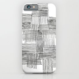 Parallel and perpendicular pencil lines iPhone Case
