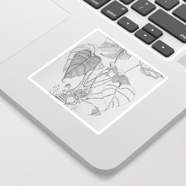 Monstera. Living Sticker