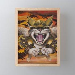 Hawk cats, DIVE! Framed Mini Art Print