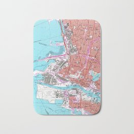 Vintage Map of Oakland California (1959) Bath Mat