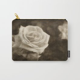 Pink Roses in Anzures 1 Antiqued Carry-All Pouch