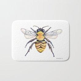 Watercolor Bee Bath Mat