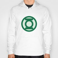 green lantern Hoodies featuring Green Lantern by DeBUM
