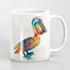 Colorful Pelican Art 2 by Sharon Cummings Mug