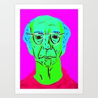 larry david Art Prints featuring Larry David 5 by Alyssa Underwood Contemporary Art