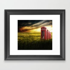Now home to the red telephone box Framed Art Print