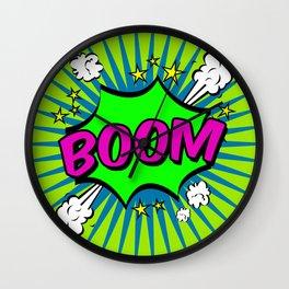 Boom Lime Boom Wall Clock