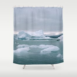ICELAND WITH ICEBERGS IS INCREDIBLE ICY Shower Curtain
