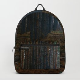 SCENERY 85 - Dark Forest Tree Woodland Natural Environment Backpack