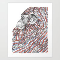 ape Art Prints featuring Ape by Guillem Bosch